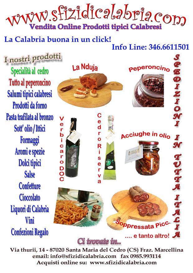 Prodotti tipici calabresi sfizi di calabria for Prodotti tipici di roma